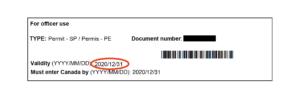 実際に下りた学生ビザ許可証に記載のある日付
