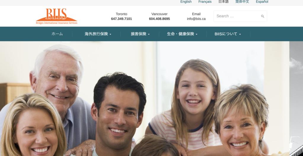 BIIS保険 ネット保険の画面