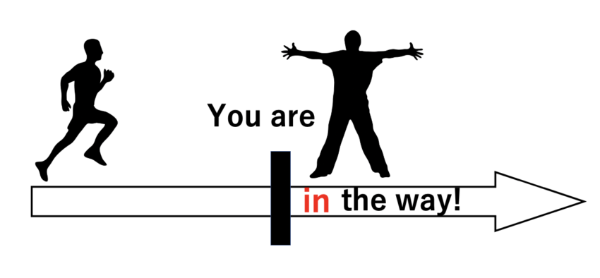 you are in the wayのわかりやすい図