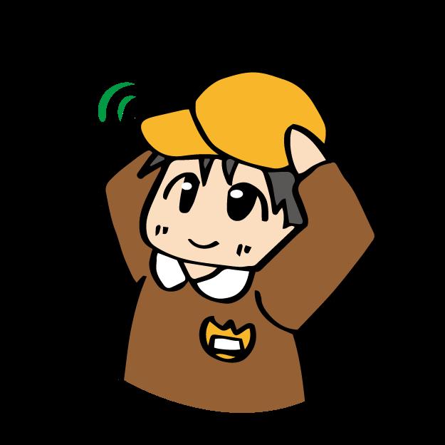 帽子をかぶっている男の子